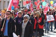 Warntsreik der Beschäftigten der kommunalen Kindertagesstätten und im Bereich der Sozialarbeit. Göttingen 18. März 2015