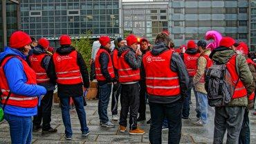 Warnstreik in Wolfsburg