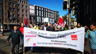Banken: Warnstreiks vor der vierten Verhandlungsrunde am 14.05.2019 in Bremen