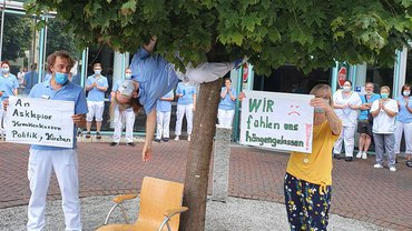 Asklepios Seesen: Spontane Aktive Mittagspause begleitet Verleihung von Asklepios Award