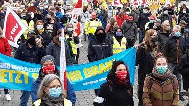 Streikkundgebung am 13.10.2020 in Braunschweig