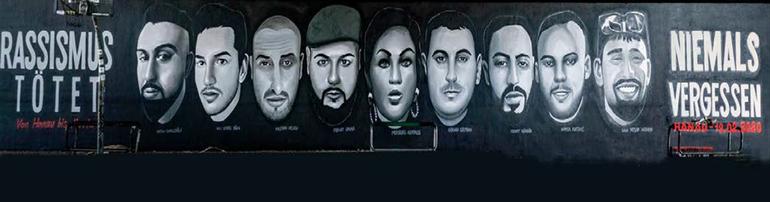 Erinnerung an die Opfer der terroristischen Morde von Hanau