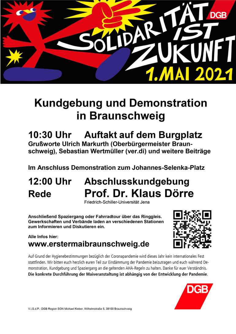 Tag der Arbeit 2021 in Braunschweig