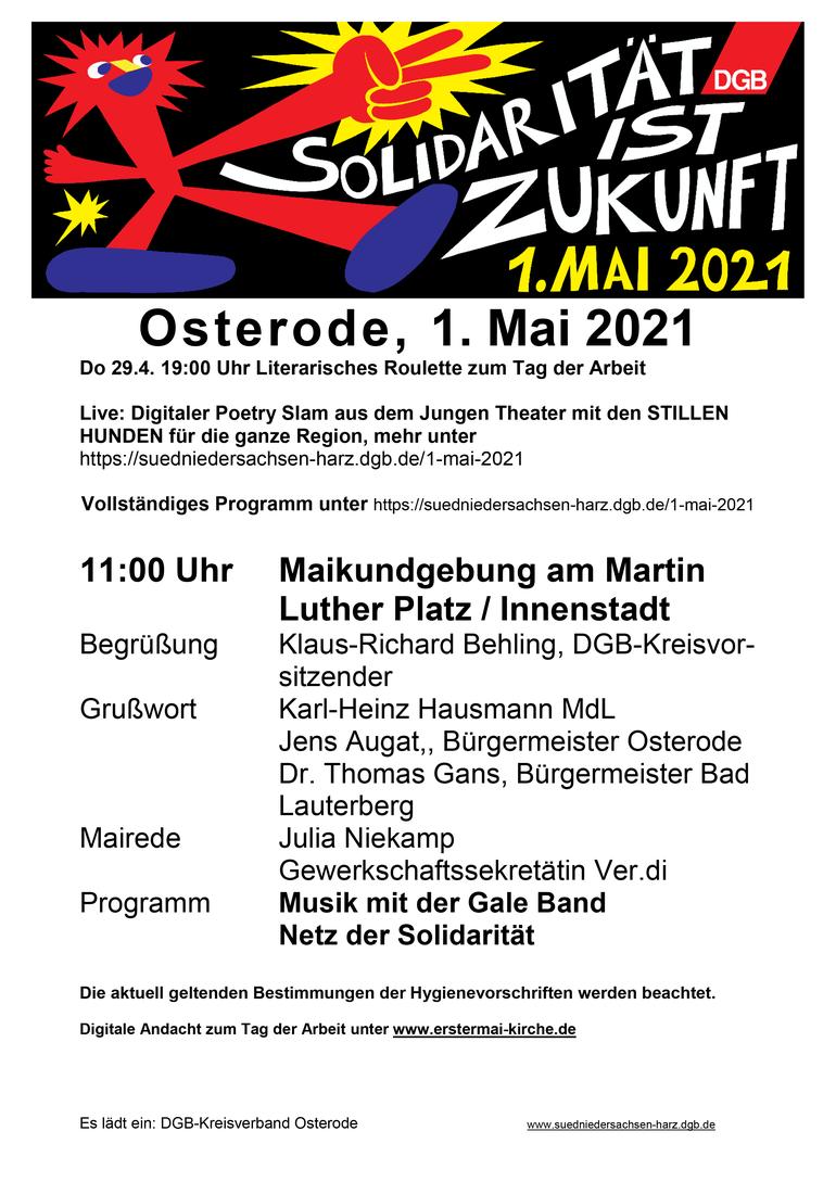 Tag der Arbeit 2021 in Osterode