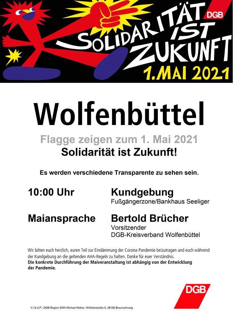 Tag der Arbeit 2021 in Wolfenbüttel