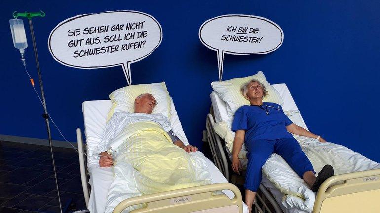 Pflege am Limit: Beschäftigte der Uniklinik Göttingen haben dieses Bild geschickt.