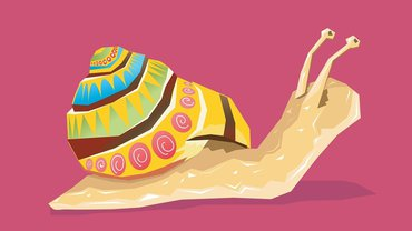 Schnecke langsam Tempo Illustration